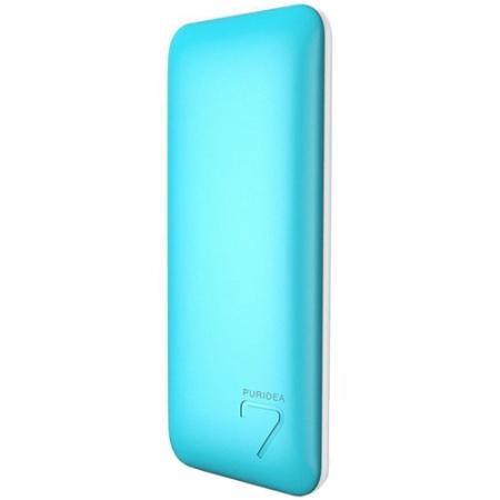 Puridea S5 - Baterie externa 7000mAh, 2 x USB, Albastru