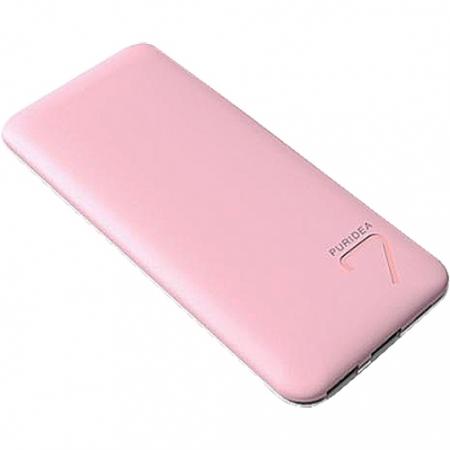 Puridea S5 - Baterie externa 7000mAh, 2 x USB, Roz