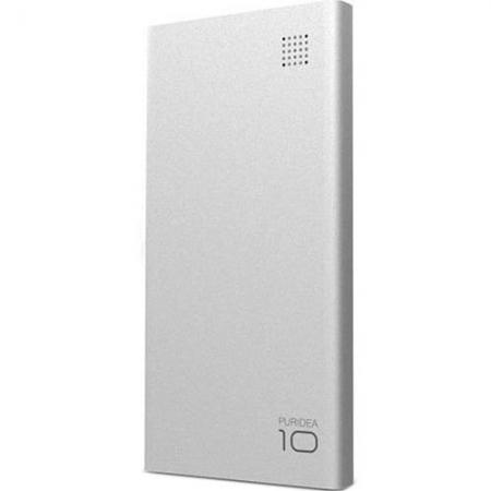 Puridea S6 - Baterie Externa ,10.000mAh, 2 Porturi USB, Argintiu