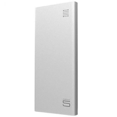 Puridea S7 - Baterie Externa, 5000mAh, 2 Porturi USB, Argintiu