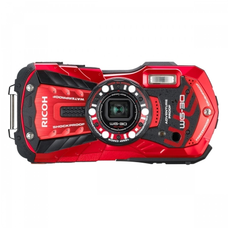 Ricoh WG-30 KIT - aparat foto subacvatic rosu