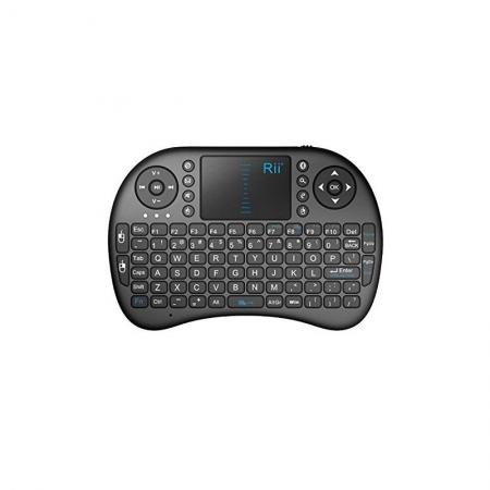Rii RTMWK08PBT - Mini tastatura bluetooth Rii i8+ iluminata cu touchpad compatibila Smart TV