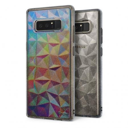 Ringke Eco Prism- Husa pentru Galaxy Note 8, Glitter Gray