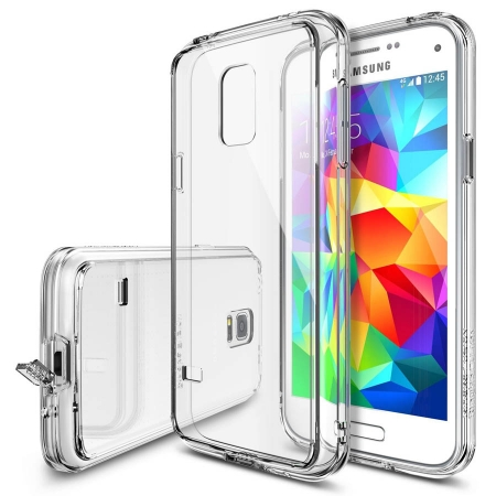 Ringke FUSION CRYSTAL VIEW Husa Samsung Galaxy S5 Mini + BONUS folie protectie display Ringke