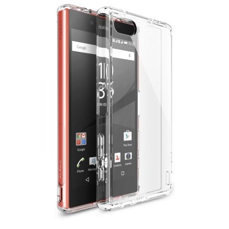 Ringke FUSION CRYSTAL VIEW TRANSPARENT - Husa Sony Xperia Z5 Compact + folie protectie display