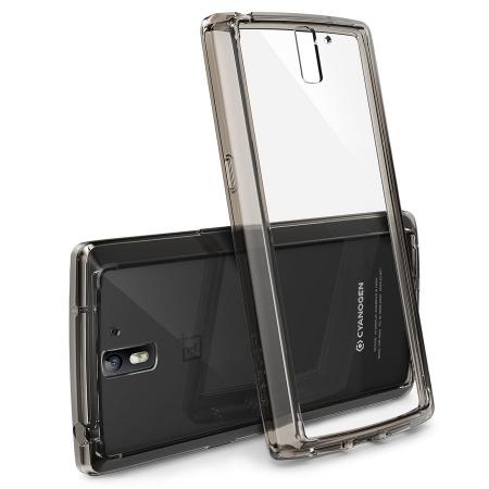 Ringke FUSION SMOKE BLACK - Husa OnePlus One+BONUS folie protectie display Ringke