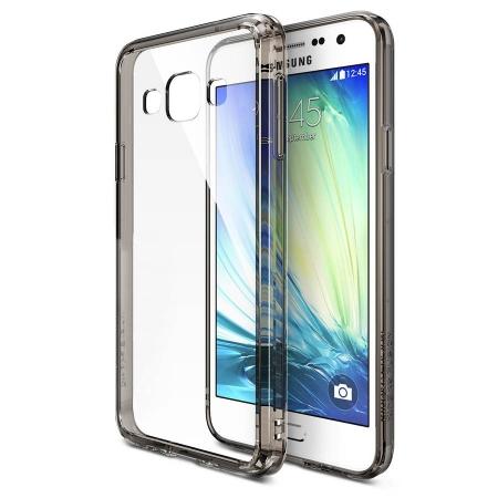 Ringke FUSION SMOKE BLACK Husa Samsung Galaxy A3 + BONUS folie protectie display Ringke