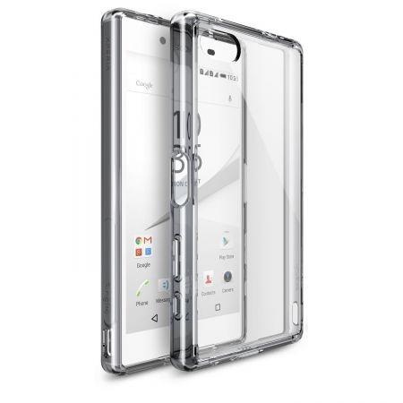Ringke FUSION SMOKE BLACK - Husa Sony Xperia Z5 Compact + folie protectie display