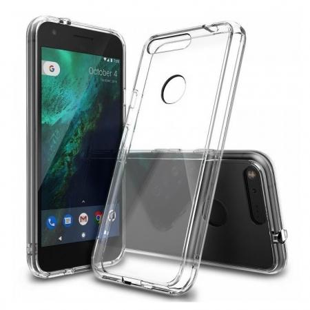 Ringke Fusion - Husa pentru Google Pixel, Clear + Bonus Folie protectie ecran
