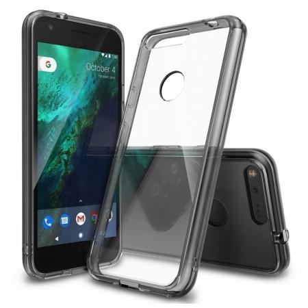 Ringke Fusion - Husa pentru Google Pixel, Smoke Black + Bonus Folie protectie ecran