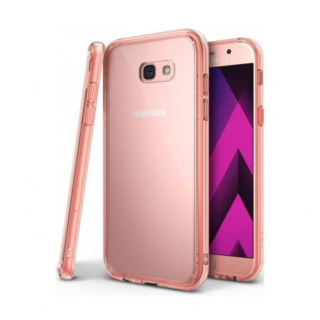 Ringke Fusion - Husa pentru Samsung Galaxy A3 (2017), Rose Gold + Bonus Folie protectie ecran