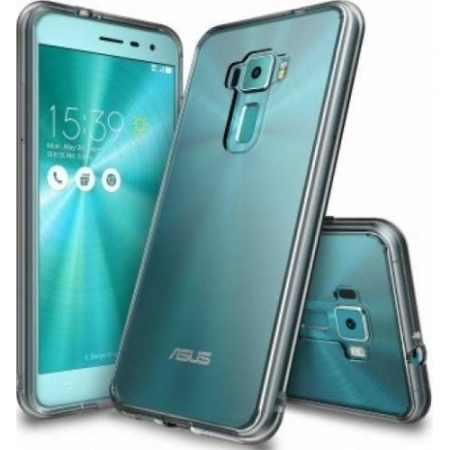 Ringke Husa Asus ZenFone 3 + Folie Invisible Screen Defender, Smoke Black