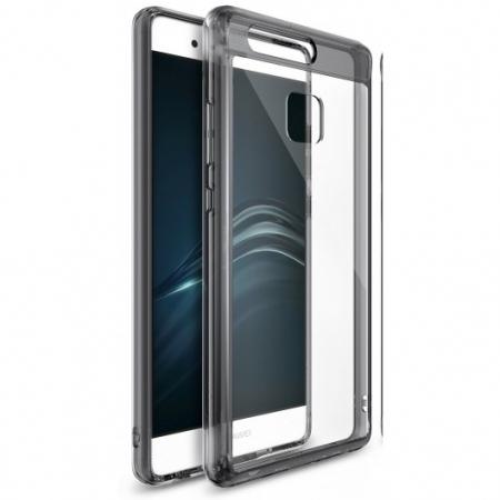Ringke Husa eco fusion + Folie pentru Huawei P9, smoke black