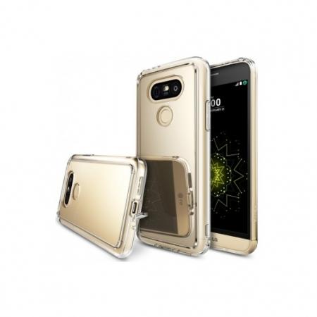Ringke Husa eco mirror + folie pentru LG G5, royal gold