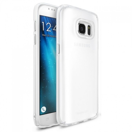 Ringke Husa eco slim + folie Galaxy S7 - frost white