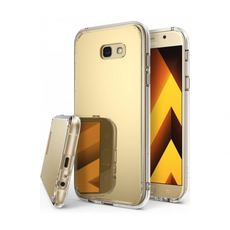Ringke Mirror - Husa pentru Samsung Galaxy A5 (2017), Royal Gold + Bonus folie ecran