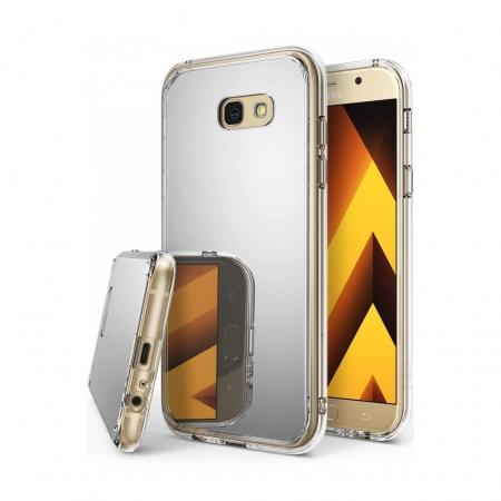 Ringke Mirror - Husa pentru Samsung Galaxy A5 (2017), Silver + Bonus folie ecran