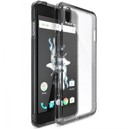 Ringke OnePlus X Fusion - capac smoke black + folie