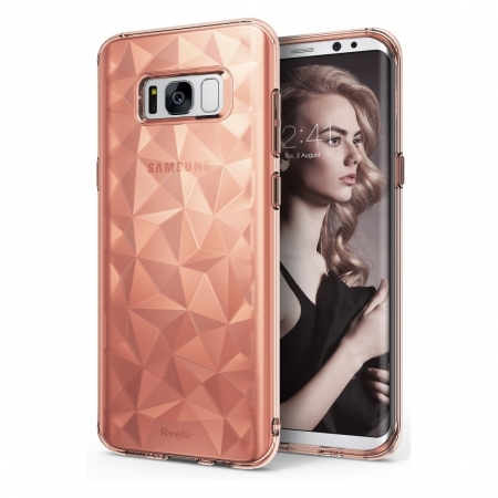 Ringke Prism - Husa pentru Samsung Galaxy S8 Plus, Rose Gold