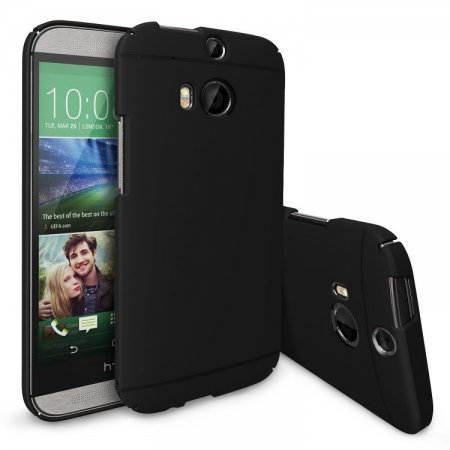 Ringke SLIM SF BLACK - Husa HTC One M8 + BONUS folie protectie display Ringke