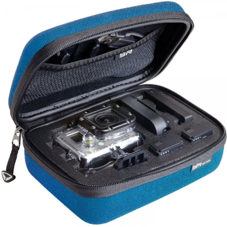 SP POV Case GoPro Small - geanta protectie si transport camere HERO - Albastru