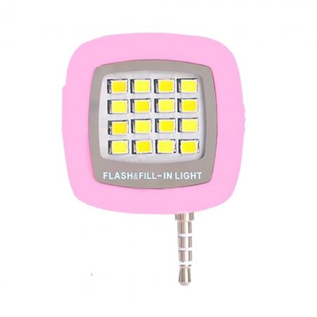 STAR Lampa Led pentru smartphone cu conector jack, Roz