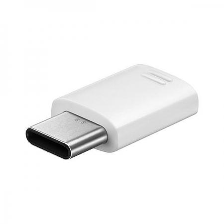 Samsung - Adaptor USB Type C - MicroUSB, Alb