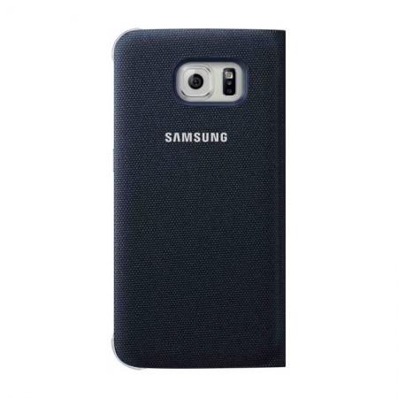 Samsung EF-CG920 - Husa tip S-View pentru Galaxy S6 - Negru