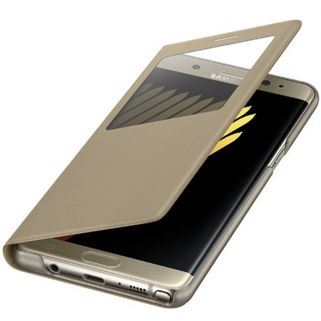 Samsung EF-CN930PFEGWW - Husa Stand S-View pentru Samsung Galaxy Note 7, Auriu