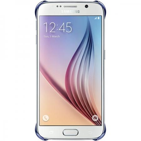 Samsung - EF-QG920BBEGWW - Husa capac spate Clear pentru Samsung Galaxy S6 - albastru