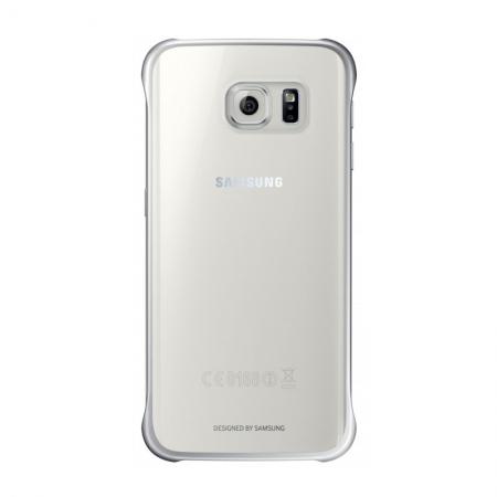 Samsung EF-QG925 - Husa tip Clear View pentru Galaxy S6 Edge (G925) - Argintiu