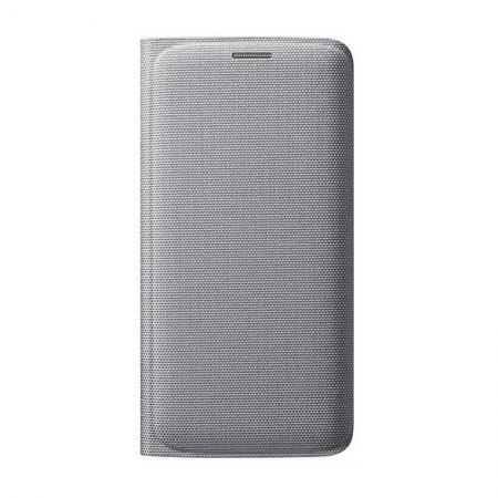 Samsung EF-WGG925 - Husa tip Flip Wallet pentru Galaxy S6 Edge (G925) - argintiu textil