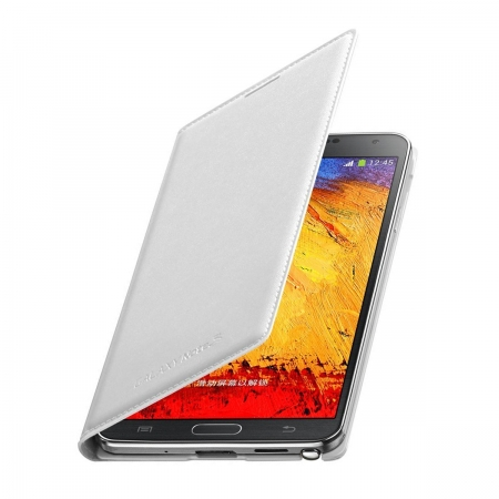 Samsung EF-WN900B - Husa piele tip Flip Wallet pentru Galaxy Note 3 (n9005) - Alb