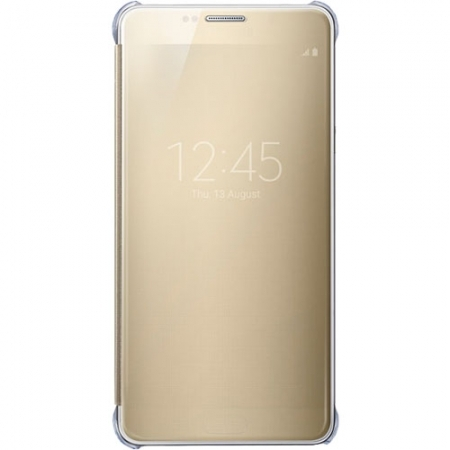 Samsung EF-ZN920 - husa agenda clear view Galaxy Note 5 - auriu