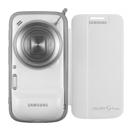 Samsung Flip Cover alb pentru Galaxy S4 Zoom