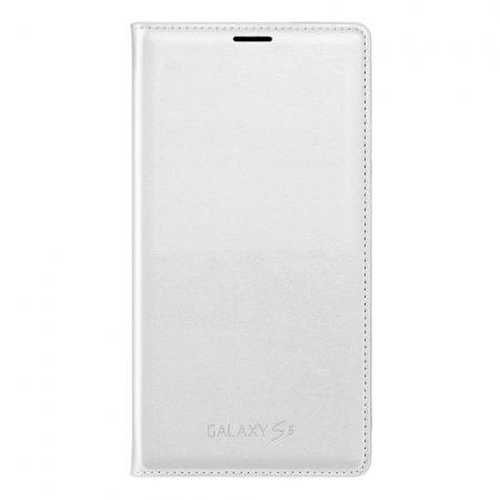 Samsung Flip Wallet alb - husa de protectie pentru Galaxy S5