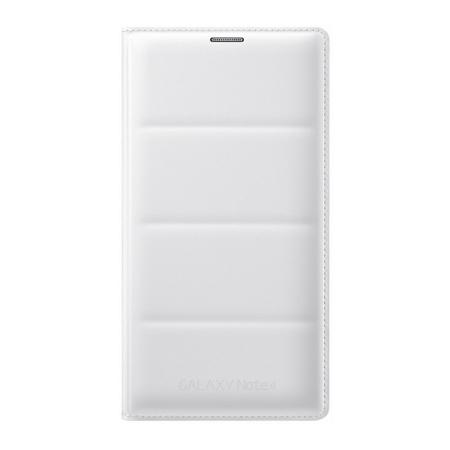 Samsung Galaxy Note 4 Flip Wallet - husa de protectie, White