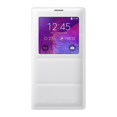 Samsung Galaxy Note 4 S-View - husa de protectie, White