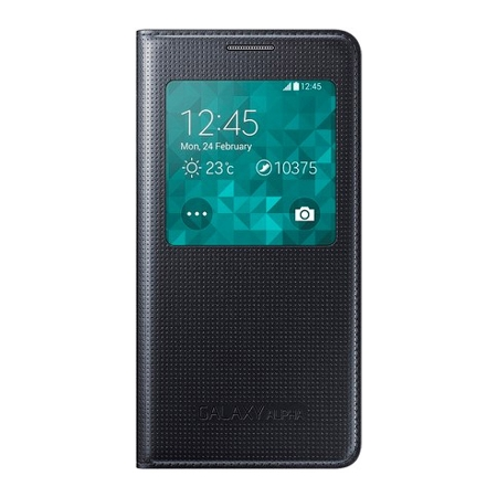 Samsung Galaxy S5 Alpha G850 S-View Cover - husa de protectie, Black