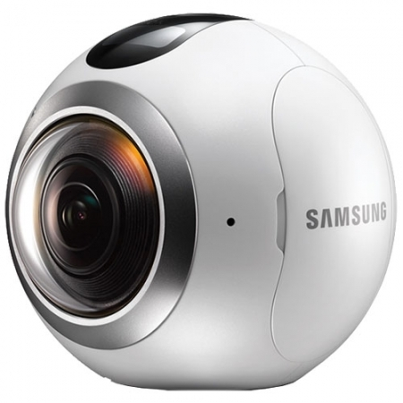 Samsung Gear 360 - Camera Video/ Foto, VR, Splashproof - Alb