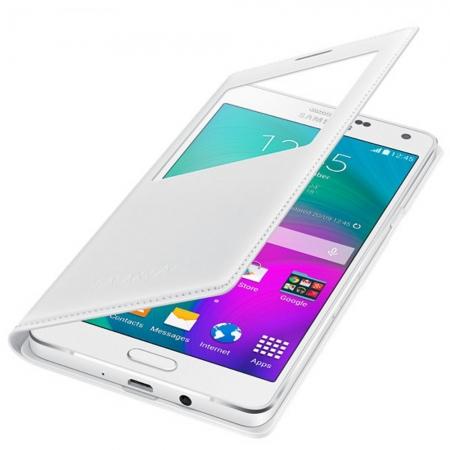 Samsung S-View Cover - Husa de protectie pentru Galaxy A7, Alb