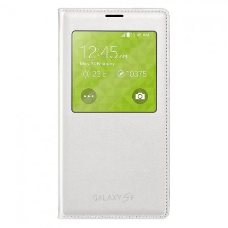 Samsung S-View Cover alb - husa de protectie pentru Galaxy S5