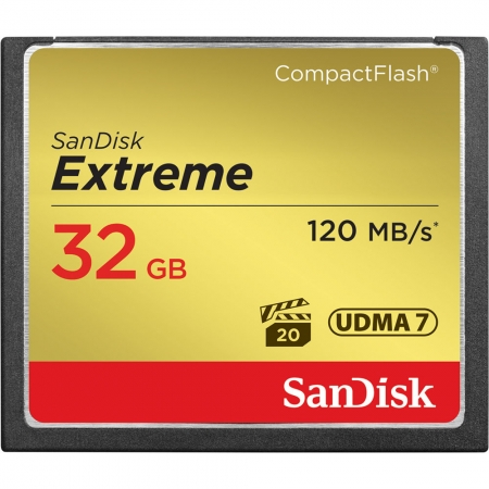 SanDisk CF 32GB Extreme 120MB/s UDMA 7, 800x