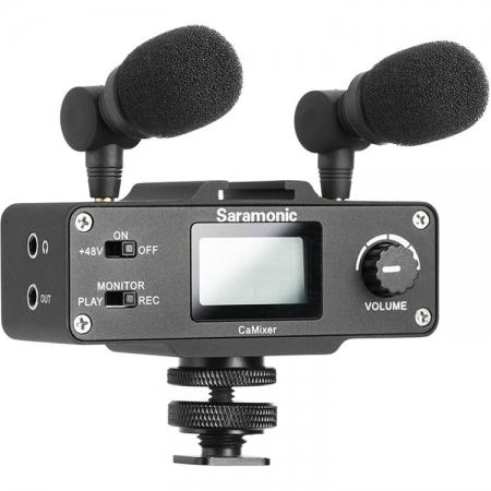 Saramonic CaMixer - Preamp & mixer audio pentru DSLR & mirrorless
