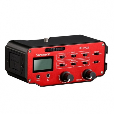 Saramonic SR-PAX2 -  Mixer cu 2 canale, jack XLR pentru DSLR