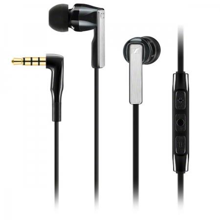 Sennheiser CX 5.00i - Casti stereo cu microfon pentru Apple - negru