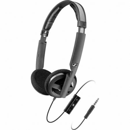 Sennheiser PX 100-IIi - Casti cu microfon si telecomanda pe fir - iOS - Negru