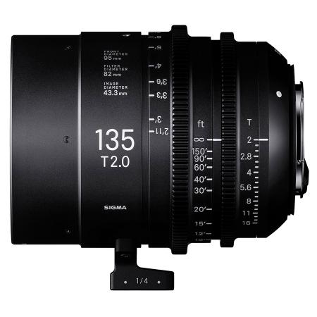 Sigma Cinema 135mm T2 - montura Sony FE, negru