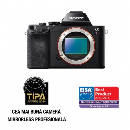 Sony A7R body - 36.3Mpx Full Frame, Full HD necomprimat, Wi-Fi