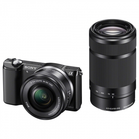 Sony Alpha A5000 KIT (ILCE-5000L/B) + SEL16-50mm + SEL55-210